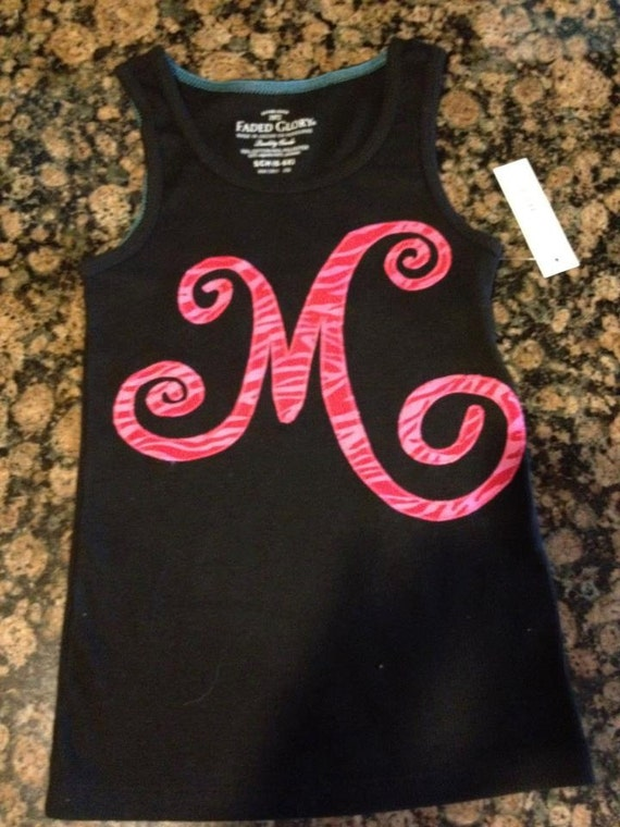 Monogrammed Applique tank, shirt