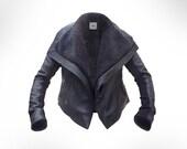 Custom made Black Leather Biker by J.O.D