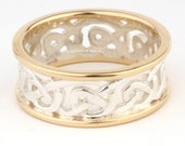 Celtic Ring in 2 Colour Gold