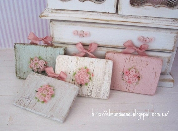 Miniature roses wall  , for dollhouses