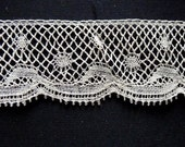 Bobbin lace edging., all my lace is handmade.RESERVE FOR MARIA