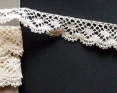 Hand made Bobbin lace edging, all my lace is handmade.RESERVE FOR MARIA
