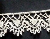 Beautiful bobbin lace edging, all my lace is handmade.