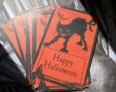 Halloween Invitation Scary Cat Spooky Vintage Image