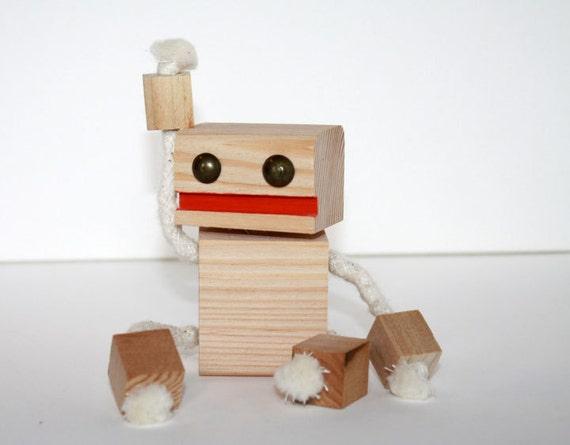 Block Bot Wooden Toy Robot