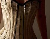 Spoon busk corded corset