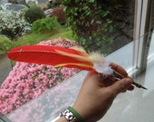 RESERVED Hermione Inspired Feather Quill Pen - Harry Potter