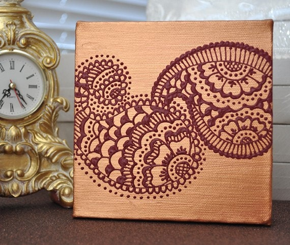 Mehndi For Sale : Sale henna mehndi style paisleys original ooak