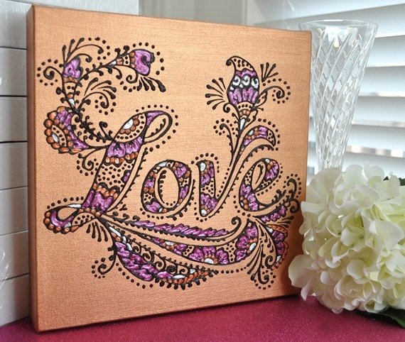 Lia Dia Designs Purple Henna Artwork
