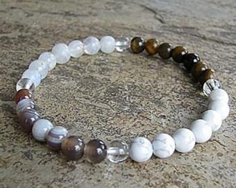 GEMINI - Zodiac Bracelet Crystal Healing Gemstone