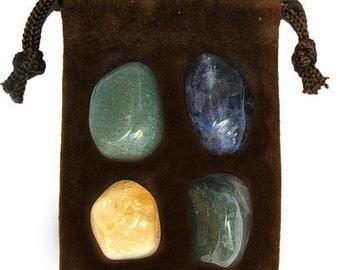 VIRGO - Zodiac STONE KIT Crystal Healing Gemstone Set, Meditation Stone Set, Astral Stones, Birthstones, Tumbled Gemstones, 4 Stones