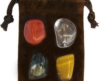 CAPRICORN - Zodiac STONE KIT Crystal Healing Gemstone Set, Meditation Stone Set, Astral Stones, Birthstones, Tumbled Gemstones, 4 Stones