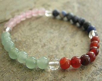 WEIGHTLOSS- Crystal Energy MEDITATION BRACELET -  Intention Bracelet, Yoga Jewelry, Energy Bracelet, Affirmation Mala Bracelet