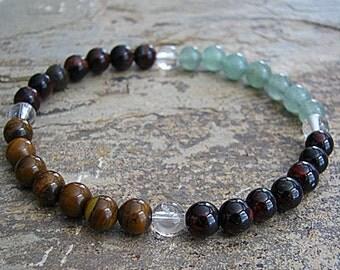VITALITY- Crystal Energy MEDITATION BRACELET -  Intention Bracelet, Yoga Jewelry, Energy Bracelet, Affirmation Mala Bracelet