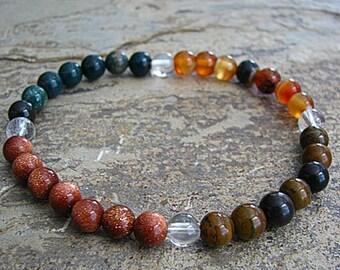 STRENGTH- Crystal Energy MEDITATION BRACELET -  Intention Bracelet, Yoga Jewelry, Energy Bracelet, Affirmation Mala Bracelet