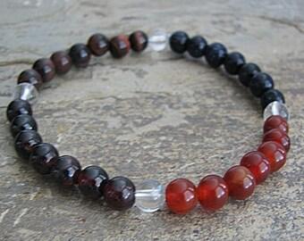 energy/drive- Crystal Energy MEDITATION BRACELET -  Intention Bracelet, Yoga Jewelry, Energy Bracelet, Affirmation Mala Bracelet