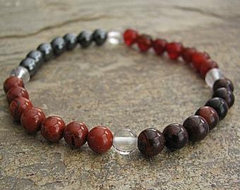 CONCENTRATION- Crystal Energy MEDITATION BRACELET -  Intention Bracelet, Yoga Jewelry, Energy Bracelet, Affirmation Mala Bracelet