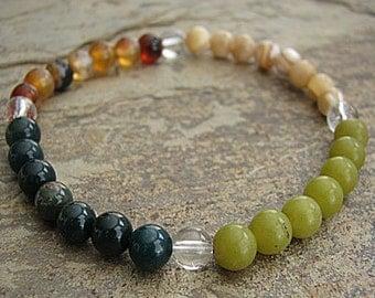 CHILDBIRTH - Crystal Energy MEDITATION BRACELET -  Intention Bracelet, Yoga Jewelry, Energy Bracelet, Affirmation Mala Bracelet