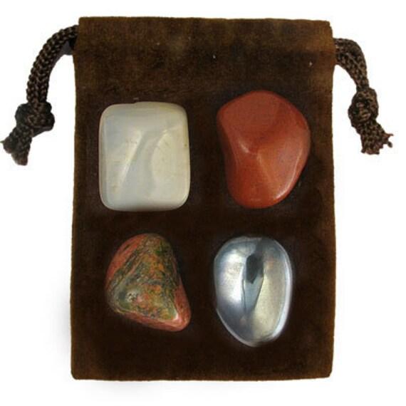 SCORPIO - Zodiac STONE KIT Crystal Healing Gemstone Set, Meditation Stone Set, Astral Stones, Birthstones, Tumbled Gemstones, 4 Stones