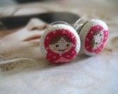 sweet babushka earrings