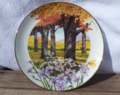 Wildflowers of the South Frost Aster Limited Edition Plate Number 2 in the Seriesby Royal Windsor Autumn Trees Squirrel Butterfly SALE