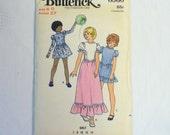 Vintage Sewing Pattern 1970s Girls Dress Pattern Size 8 Butterick 6560
