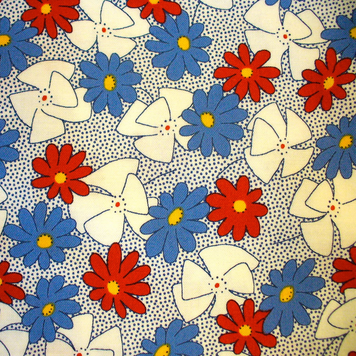 Reproduction 1930s 1940s Feedsack Print Quilting Cotton Fabric