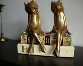 Vintage Pair Brass Animals Frogs