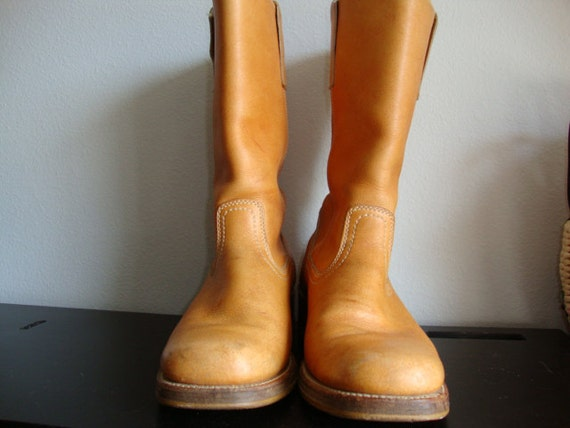 Vintage Leather Campus Boots - Women's Size 10