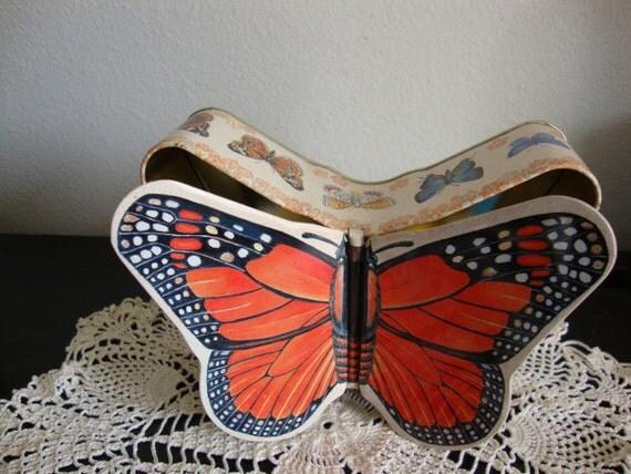 Metal Butterfly trinket box