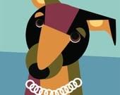 Custom pet caricature and FREE SOFTEE