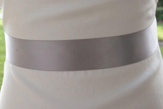 simple silver bridal sash