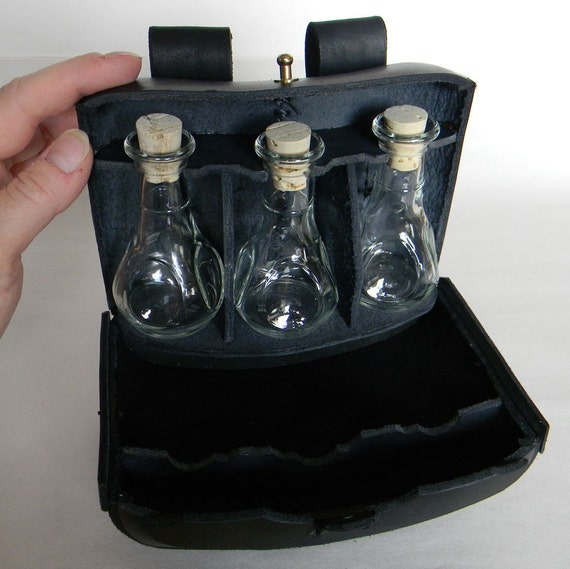 Leather Embossed Potion Pouch,  Holds 3 Potions.  Built in belt loops.