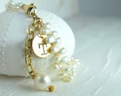Personalized Gifts for Her, Initial Pearl Braclet, Keepsake Bracelet and Jewelry