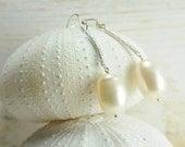 Dainty Sterling Silver Pearl Earring:) Perfect Bridal Earring