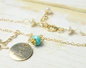 Personalized Star Fish Bridesmaid Monogram Charm Bracelet, Bridesmaid Gifts, Matron of Honor Gifts,  Beach Weddings