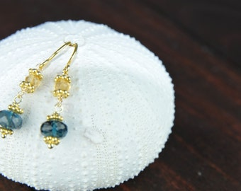 Simple and Fresh london blue topaz earring