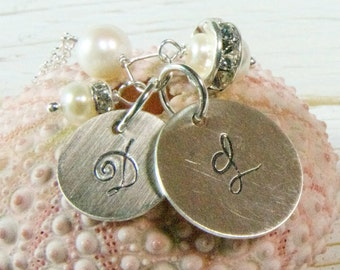 Mothers Initial  Jewelry/ Mothers Day Gifts/ Mothers Monogrammed Jewelry Ideas