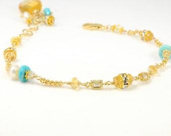 Personalized Gemstone Bracelets, Mother of the Bride Gifts, Grandmother Gift Ideas, Wedding Party Keepsake Bracelet