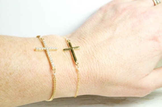 Mother Daughter Cross Bracelets on Etsy/ Mother Daughter Gifts/ Mother Daughter  Jewelry Ideas
