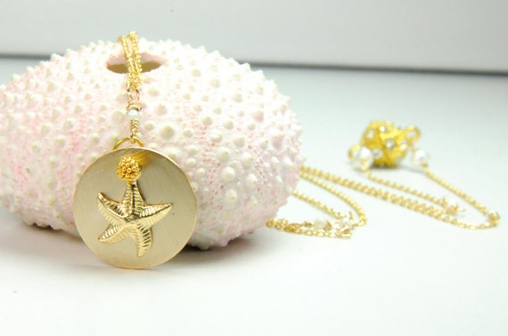 Dainty Starfish Necklace in Gold, Personalized Mother's Day Gifts, Gifts for Her, Teens