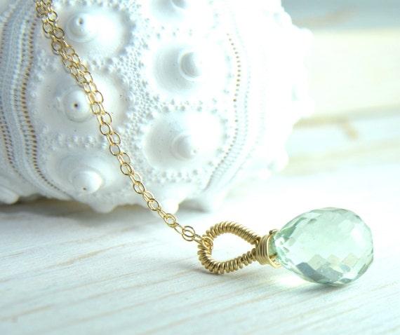 Pretty mint gemstone necklace