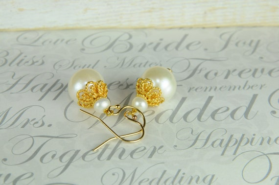 Bridal Jewelry, Bridesmaid Jewelry, Gifts, Weddings, White pearl, simple, Bridesmaid Sets
