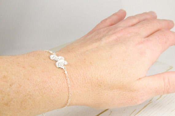 Graduation Gifts, Dainty Crystal Butterfly Bracelet in Sterling Silver/Lillyput Lane Design Company Sample Sale