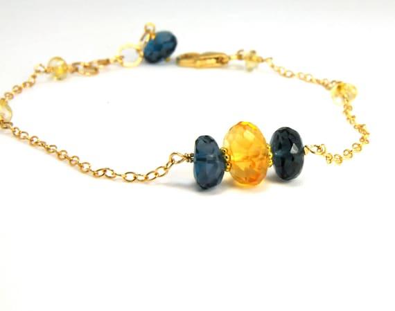 Dainty Topaz Bridesmaid Bracelets on Etsy:) Bridesmaid Gifts