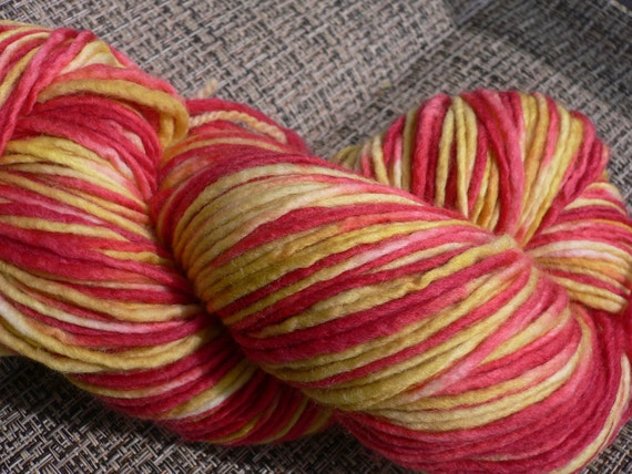 Griffindor, Inspired by HP, Hand dyed Single and Fabulous Merino Wool