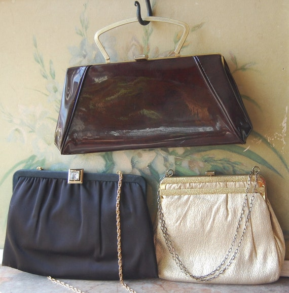 Trio Of 1960's Formal Handbags