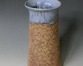 Fine Lace Denim Blue Cone Vase
