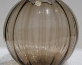 Vintage Mid Century Modern WMF Crystal/Kristall Vase West Germany Glass Brown/Smoke