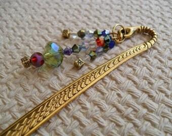 Gold Bookworm Bookmark